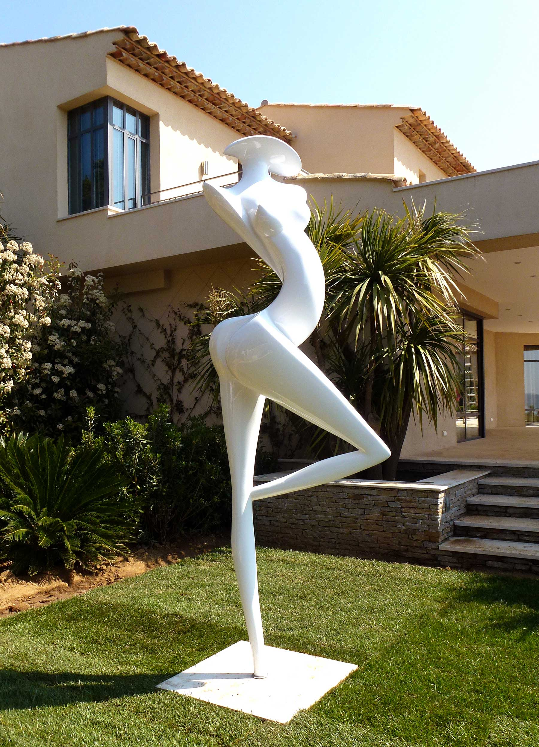 grande danseuse composite carbone sculpture contemporaine marion b rkle marion buerkle. Black Bedroom Furniture Sets. Home Design Ideas