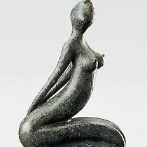 Désir, sculpture contemporaine de Marion Bürkle, bronze patiné 33 cm