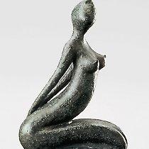 Désir, sculpture contemporaine de Marion Bürkle, bronze patiné 33 cm