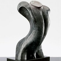 Torse, sculpture contemporaine de Marion Bürkle, bronze patiné 50 cm