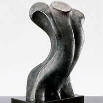 Torse, sculpture contemporaine de Marion Bürkle, bronze patiné 50 cm