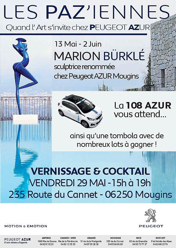 Exposition d'art chez Peugeot Azur